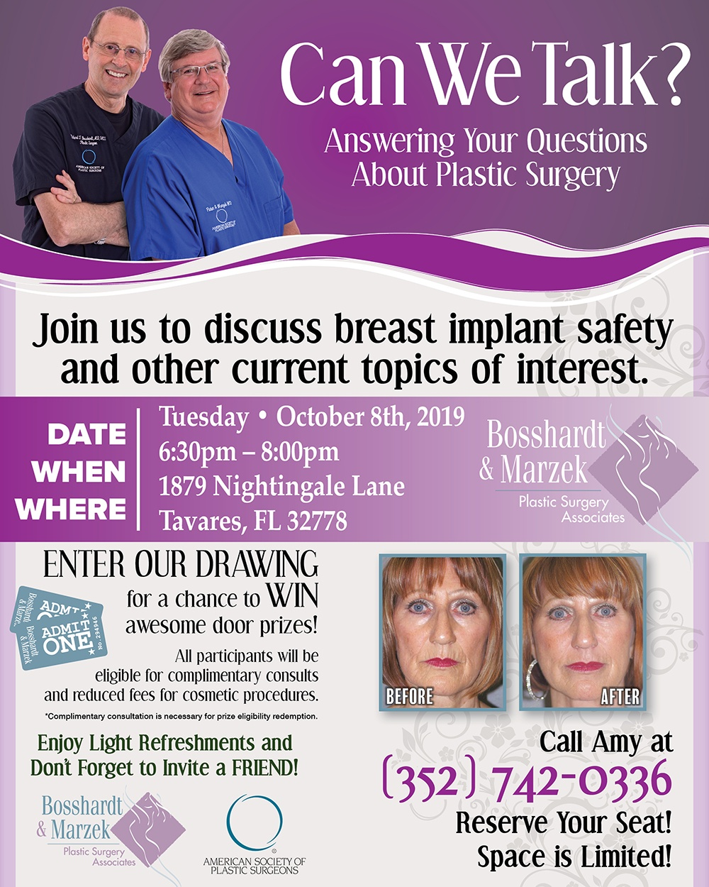 plastic surgery seminar october 8, 2019